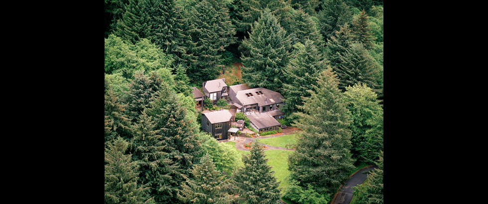 Sitka Center for Art and Ecology's Aerial Photography