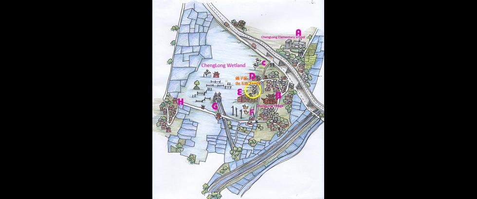成龍溼地國際環境藝術計畫地圖