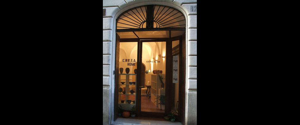 羅馬陶藝工作室入口