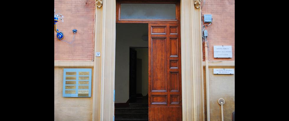 Siena Art Institute's Entrance