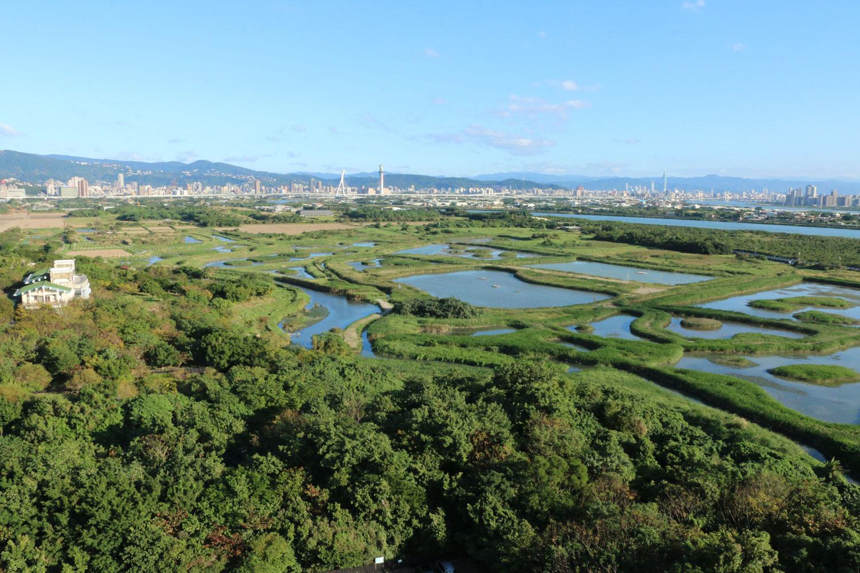 關渡國際自然藝術季空拍照
