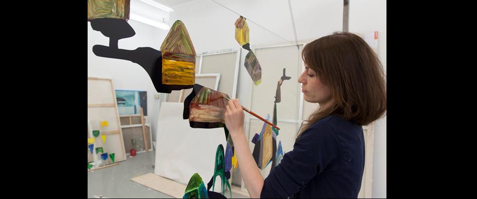 荷蘭皇家視覺藝術學院布展中