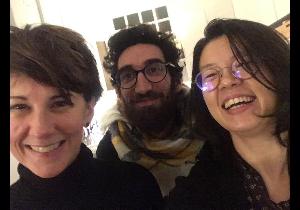 到巴黎當地策展人Yoann Gourmel, Elodie Royer家中聚會。2019年1月4日。