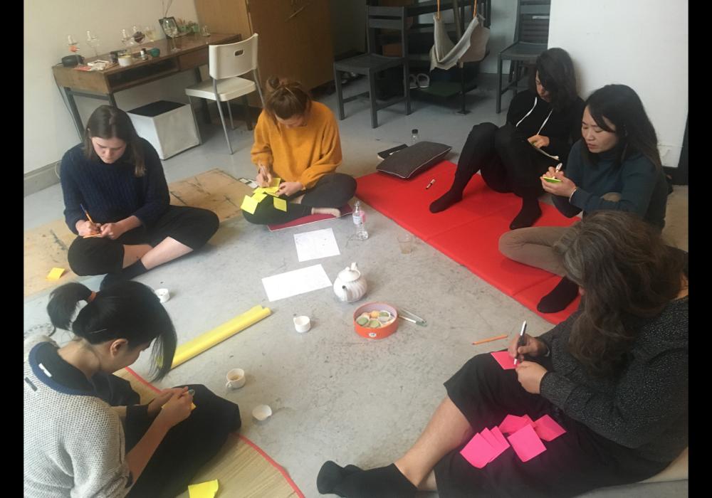 在西帖工作室內舉辦科幻寫作工作坊《檸檬》,部分寫作成果。2018年12月4日。