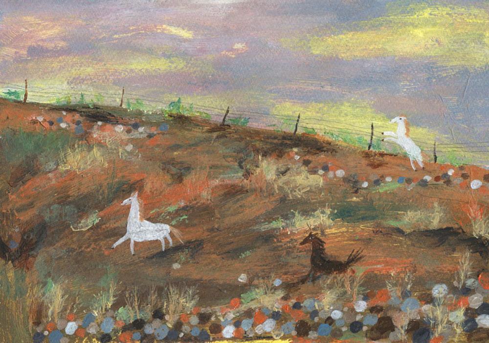 在法蘭西野地公園(Frenchy's Field)黃昏散步