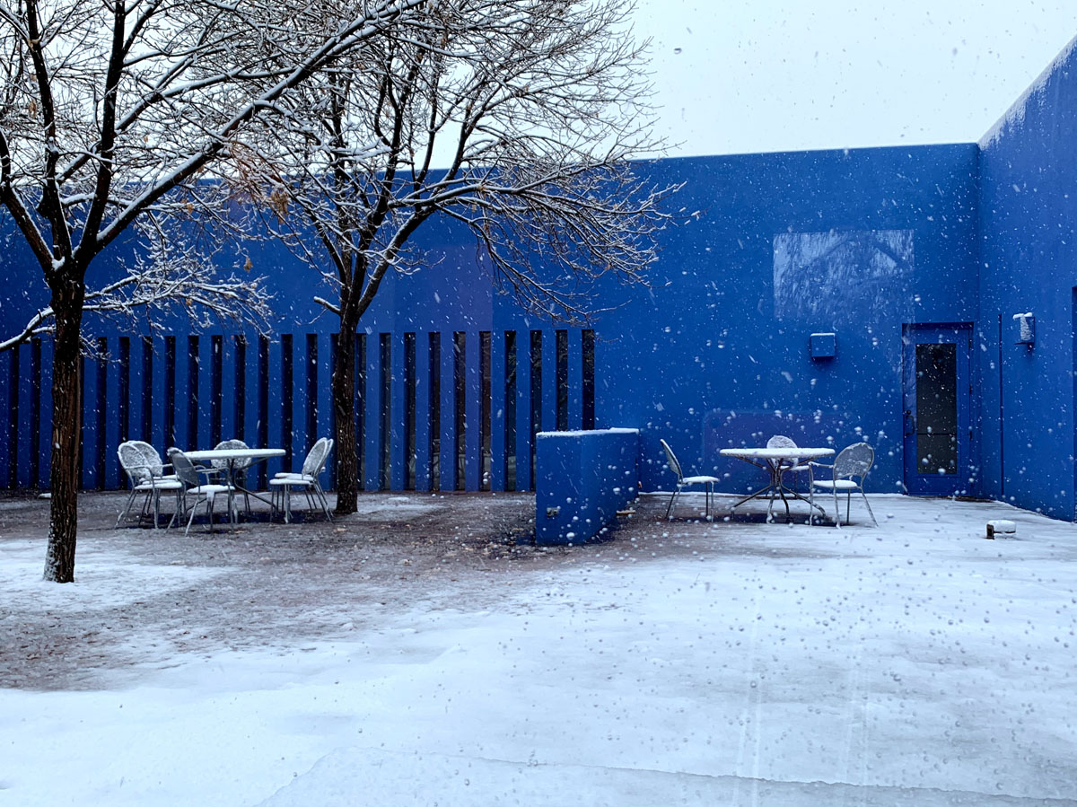 駐村地(Santa Fe Art Institute)下雪了